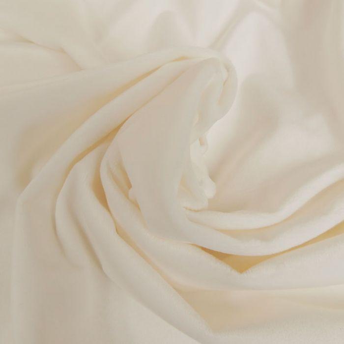 Tissu minky oeko-tex - blanc cassé x 10 cm