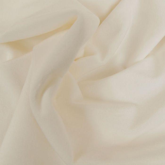 Tissu minky oeko-tex - blanc x 10 cm