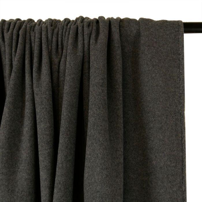 Tissu lainage cachemire doux - gris chiné x 10 cm