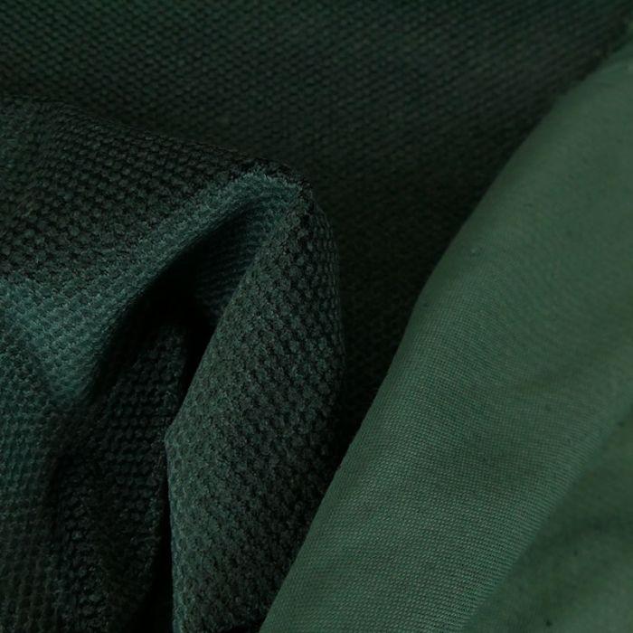 Tissu velours texturé - vert x 10 cm