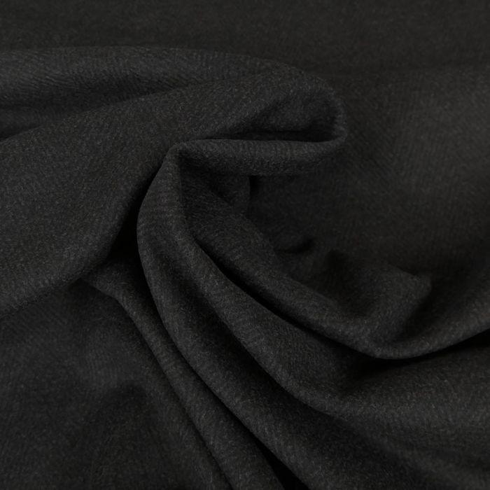 Tissu lainage chevrons - gris chiné x 10 cm