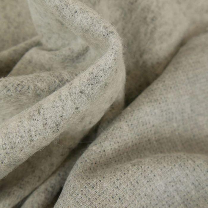Tissu lainage mohair - gris clair x 10 cm