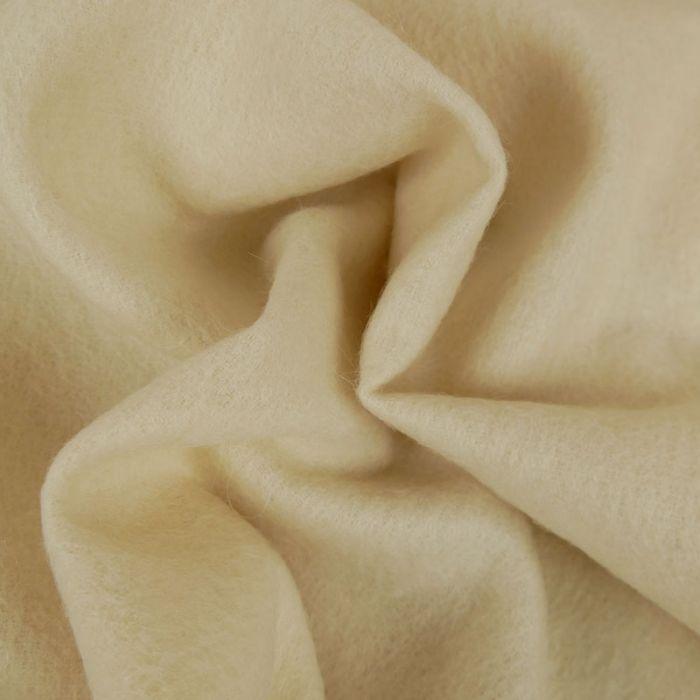 Tissu lainage mohair - écru x 10 cm