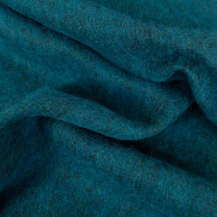 Tissu lainage mohair - canard x 10 cm
