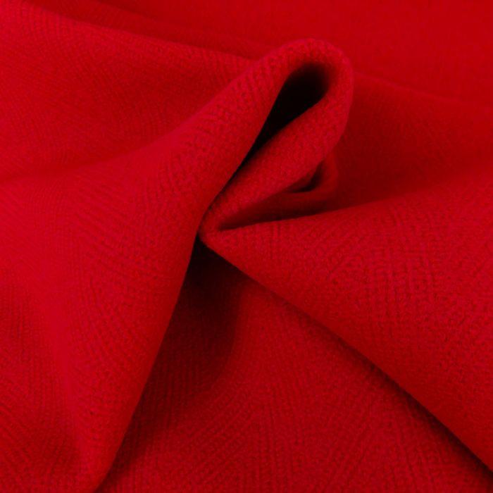 Tissu lainage chevrons - rouge x 10 cm