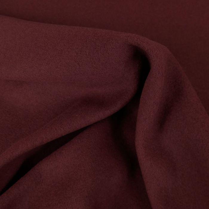 Tissu lainage cachemire doux - bordeaux x 10 cm