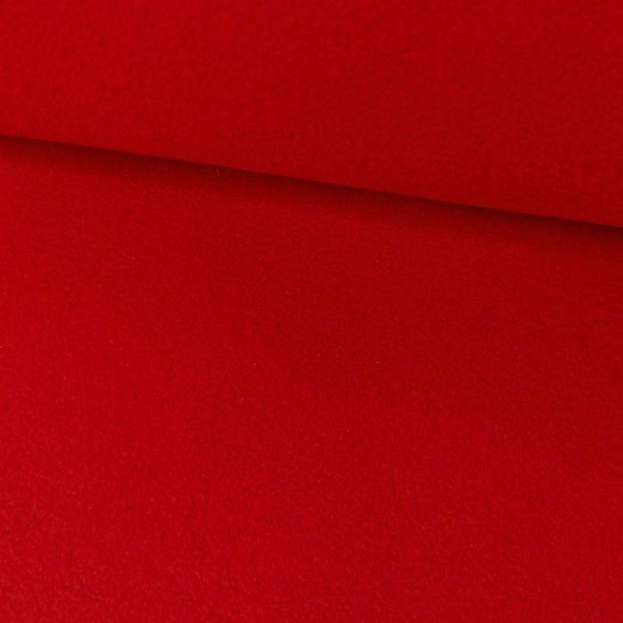 Tissu drap de laine cachemire  - rouge noël x 10 cm