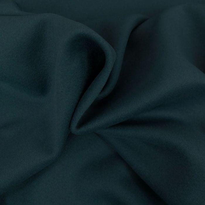 Tissu lainage cachemire - canard x 10 cm
