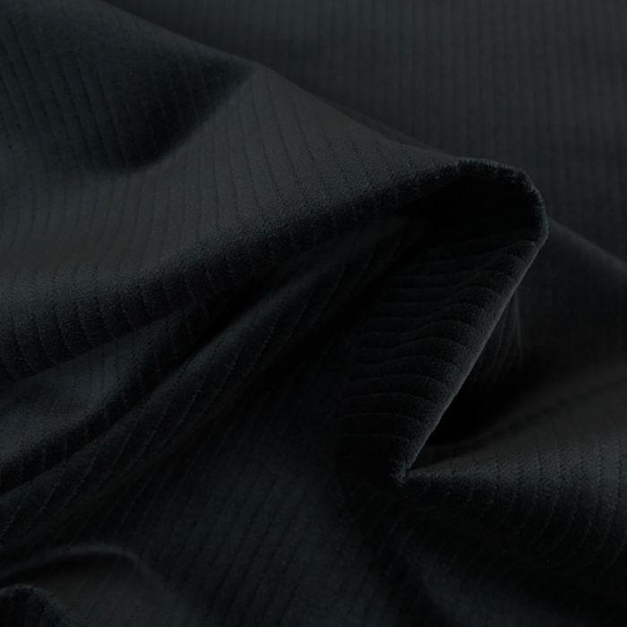 Tissu velours grosses côtes - bleu nuit x 10 cm