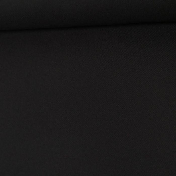Tissu lainage cachemire sergé - bleu nuit x 10 cm