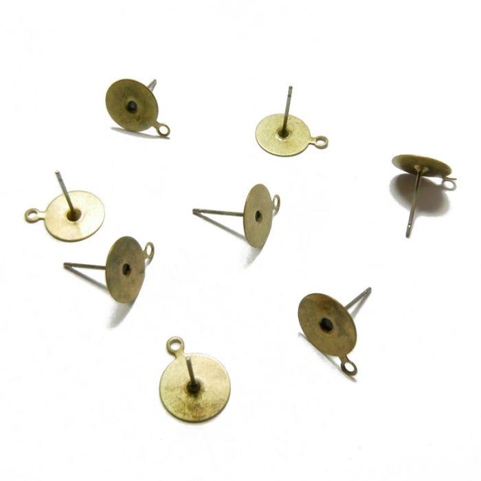 Supports boucles d'oreilles pics plateau 10 mm x 8
