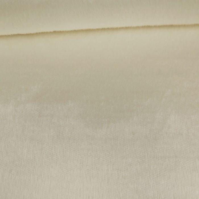 Tissu fausse fourrure - écru x 10 cm