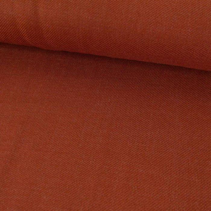 Tissu viscose twill fluide - rouille x 10 cm
