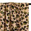 Tissu polyester fleurs glitters - rose poudré x 10 cm