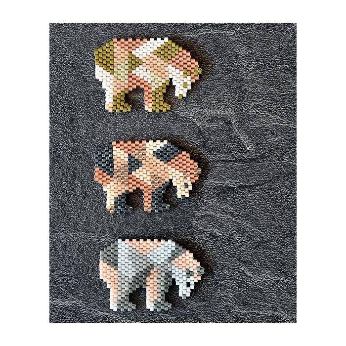 Brick Stitch : Méthode complète et motifs - Virginie Chatenet