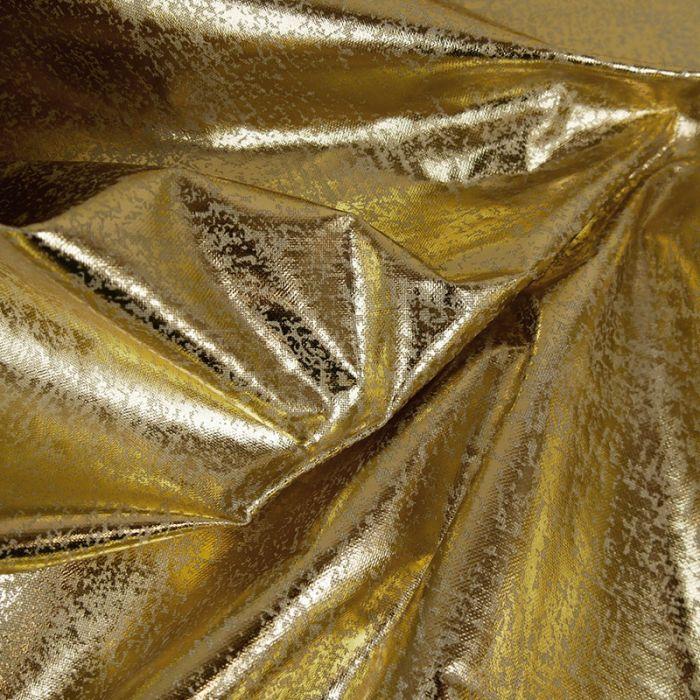 Tissu toile coton lurex - doré x 10 cm