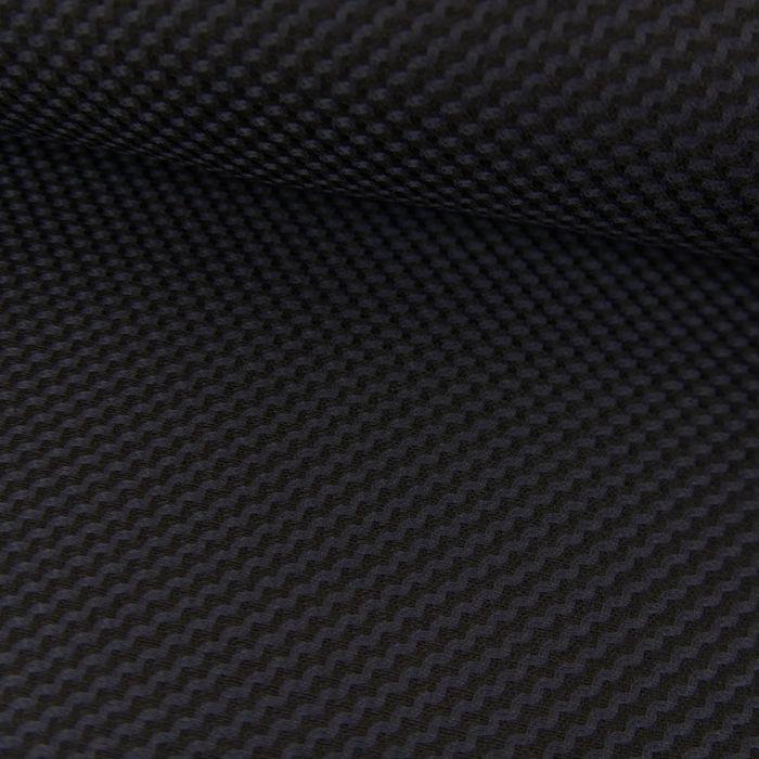 Tissu lainage fin géométrique - bleu marine x 10 cm