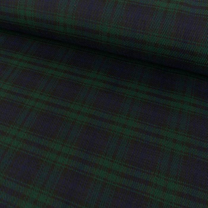 Tissu tartan écossais bleu - vert x 10 cm