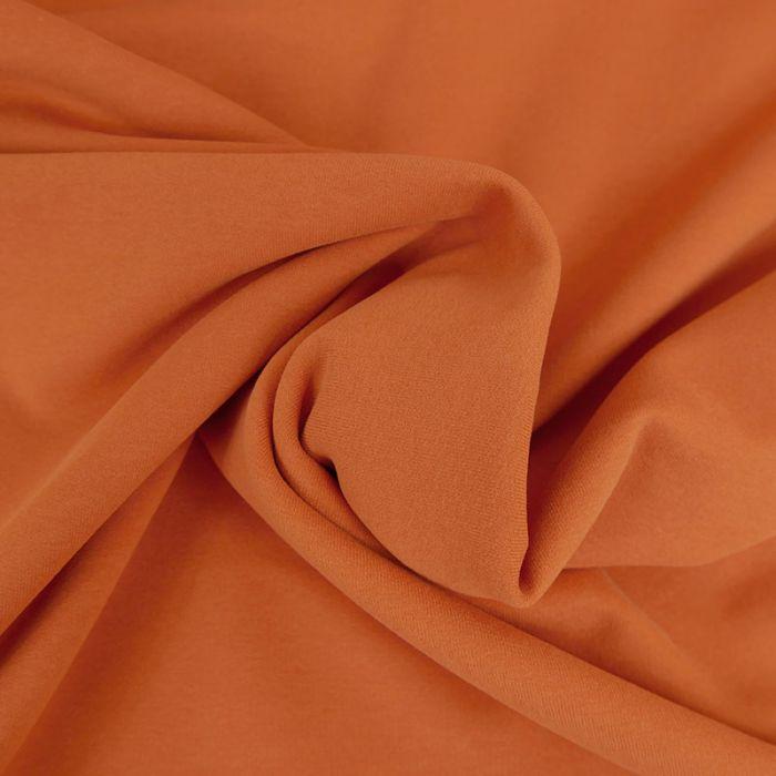 Tissu jersey sweat léger bio uni - orange x 10 cm