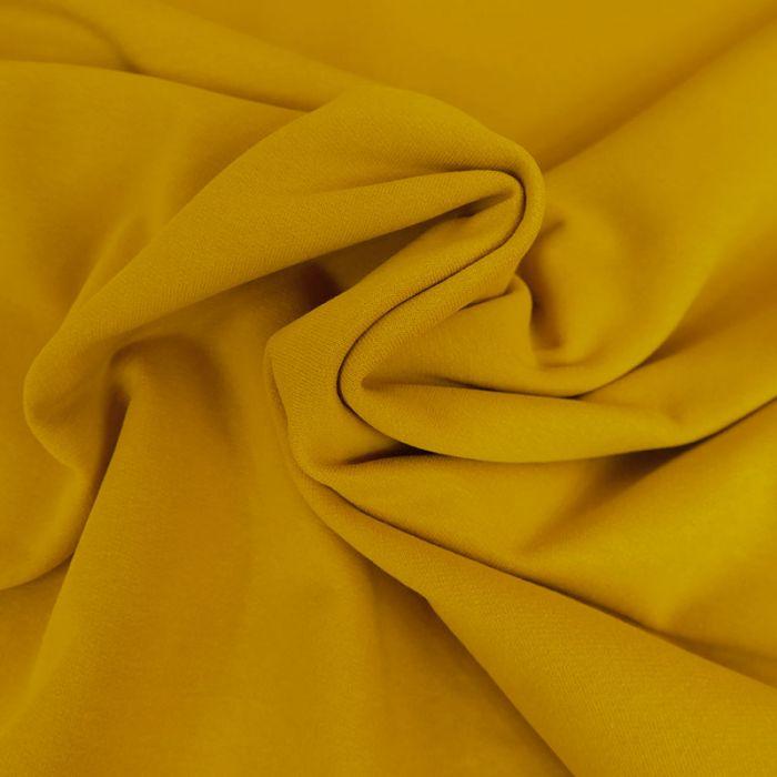Tissu jersey sweat léger bio uni - ocre x 10 cm