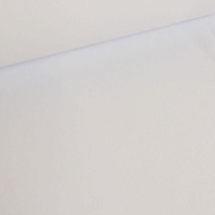 Tissu jersey sweat léger bio uni - blanc x 10 cm