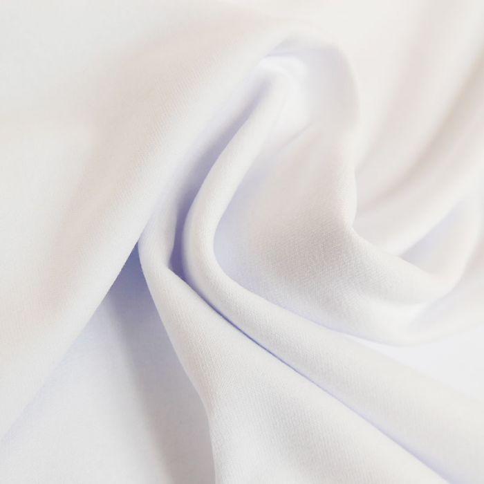 Tissu jersey bio uni - blanc x 10 cm