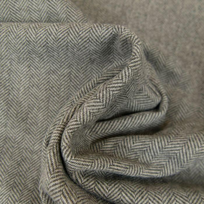 Tissu chevrons stretch - gris x 10 cm