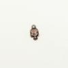 Breloque tête de mort 12mm cuivre x1