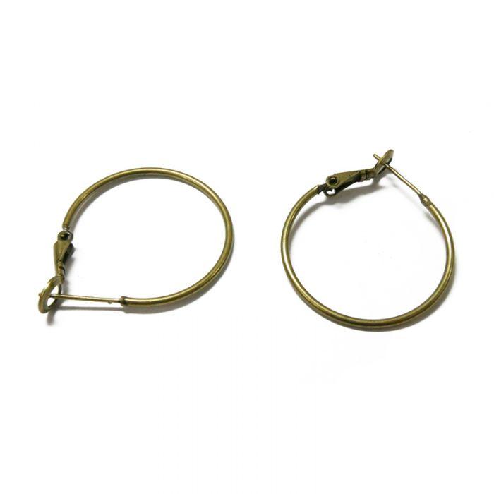 Boucles d'oreilles créoles 25 mm x2