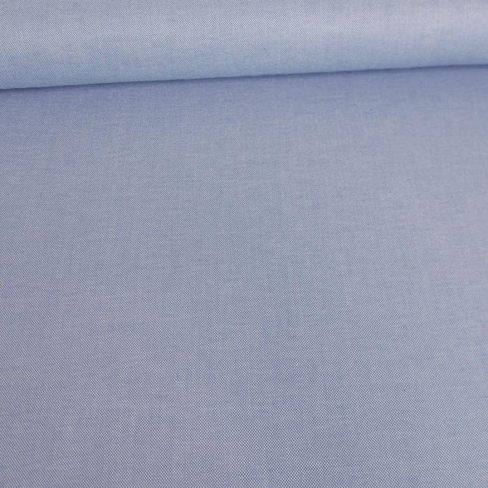 Tissu coton oxford - bleu x 10 cm