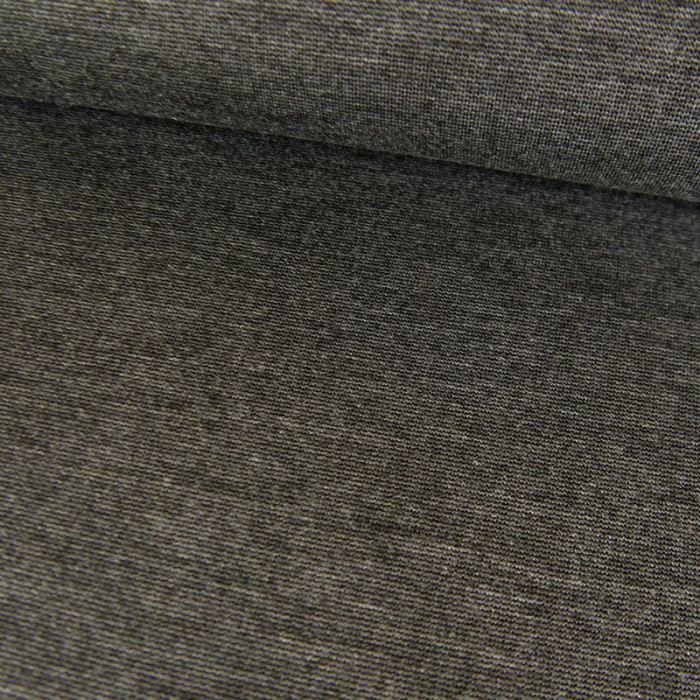 Tissu jersey punto lourd viscose - gris foncé x 10 cm
