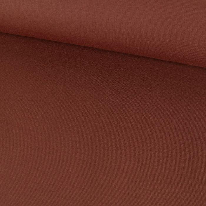 Tissu jersey punto lourd viscose - rouille x 10 cm