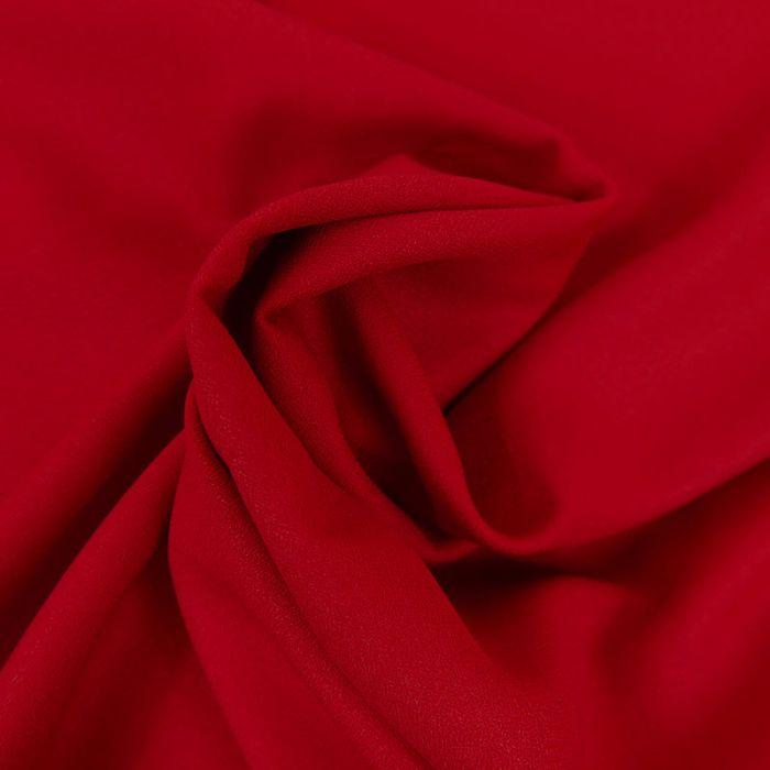 Tissu Crêpe viscose haute couture - rouge foncé x 10 cm