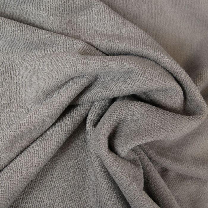 Tissu micro éponge bambou Oeko-Tex - gris clair x 10 cm