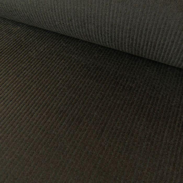 Tissu velours côtelé uni - gris foncé x 10 cm