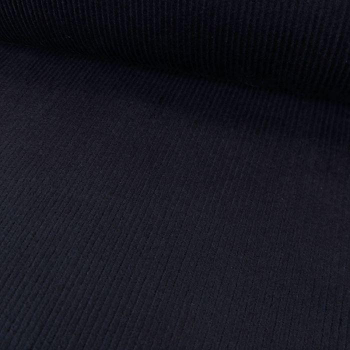 Tissu velours côtelé fin - bleu marine x 10 cm