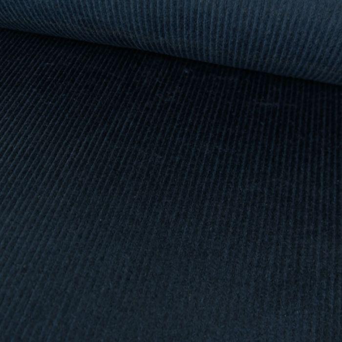 Tissu velours côtelé uni - bleu canard x 10 cm