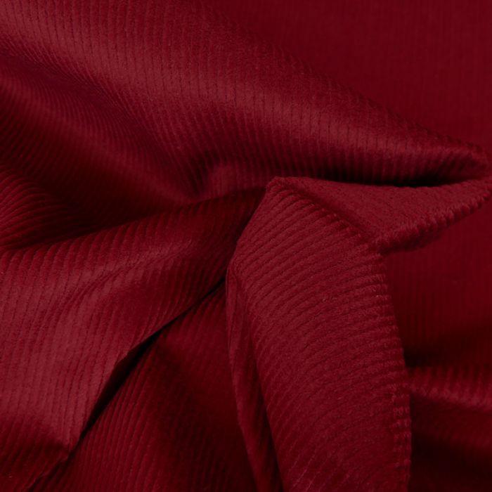 Tissu velours côtelé uni - bordeaux x 10 cm