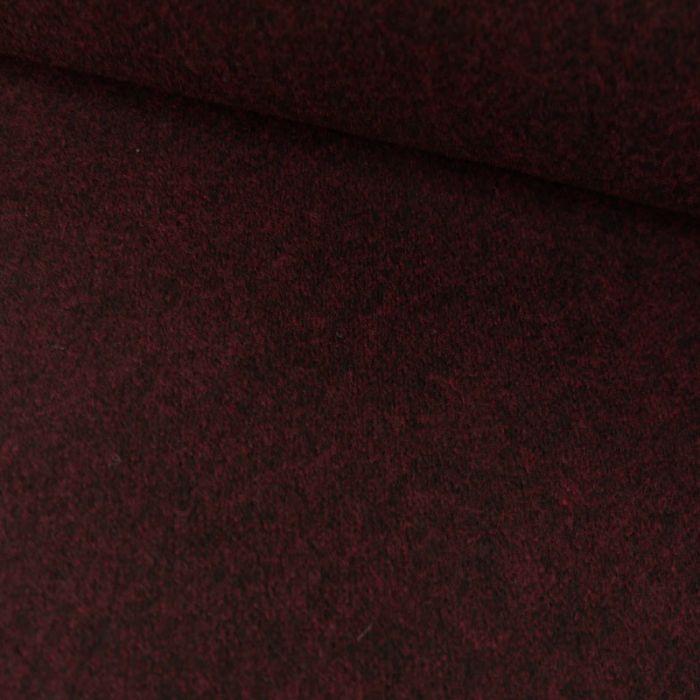 Tissu lainage cachemire rouge - bordeaux x 10 cm