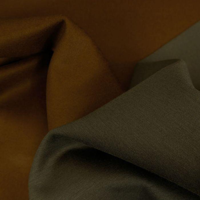 Tissu lainage cachemire scuba - marron x 10 cm