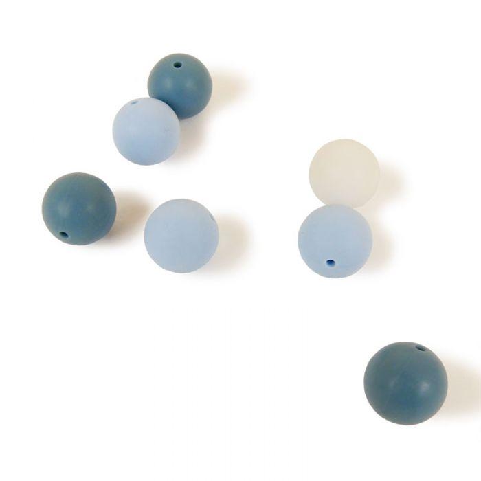 Perles en silicone 15 mm x 7