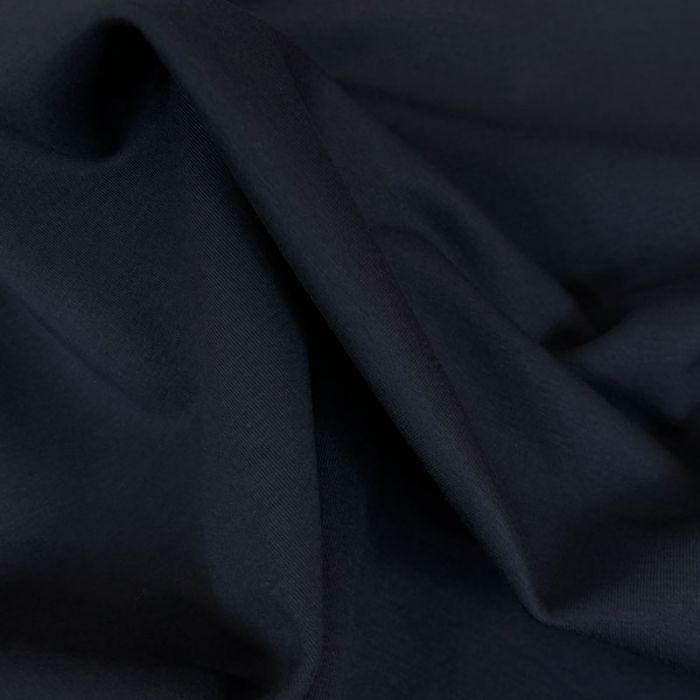 Tissu lainage cachemire scuba - noir x 10 cm