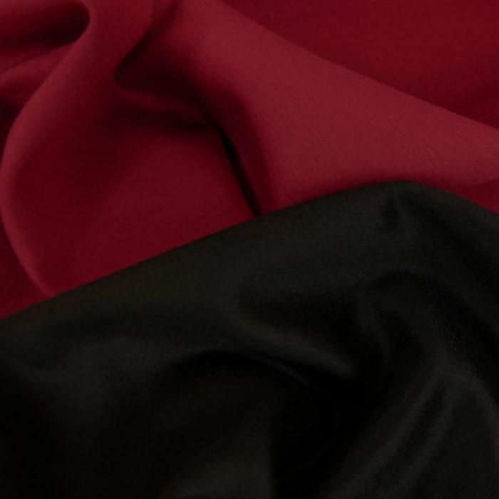 Tissu lainage cachemire scuba - bordeaux x 10 cm