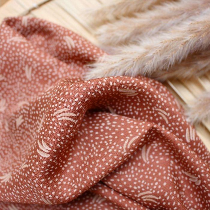 Tissu Dune chesnut - Atelier Brunette x 10 cm