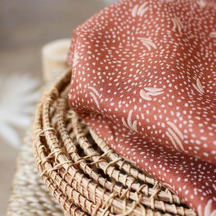 Tissu Dune chestnut - Atelier Brunette x 10 cm
