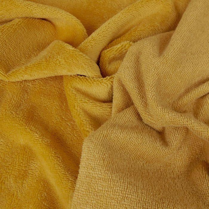 Tissu micro éponge bambou Oeko-Tex - Moutarde x 10 cm