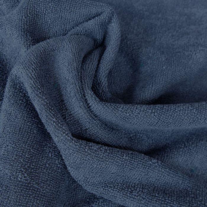 Tissu micro éponge bambou Oeko-Tex - Indigo x 10 cm