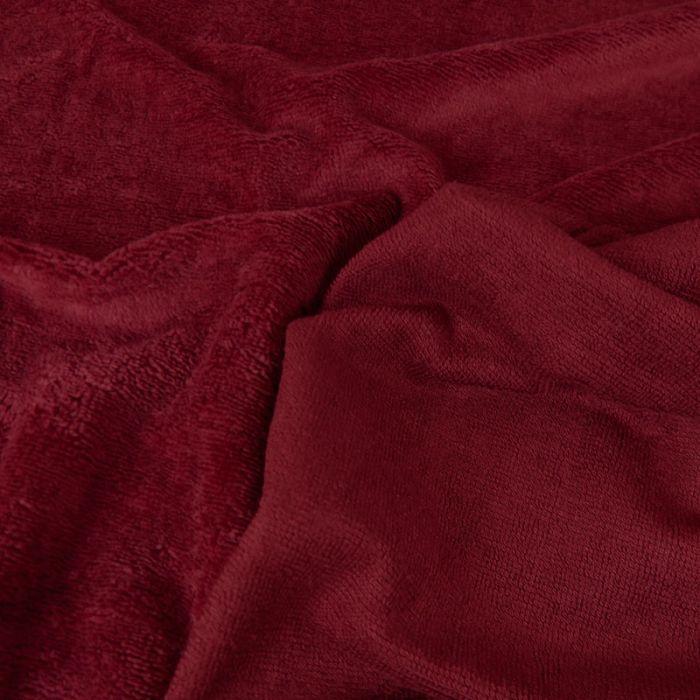 Tissu micro éponge bambou Oeko-Tex - grenat x 10 cm