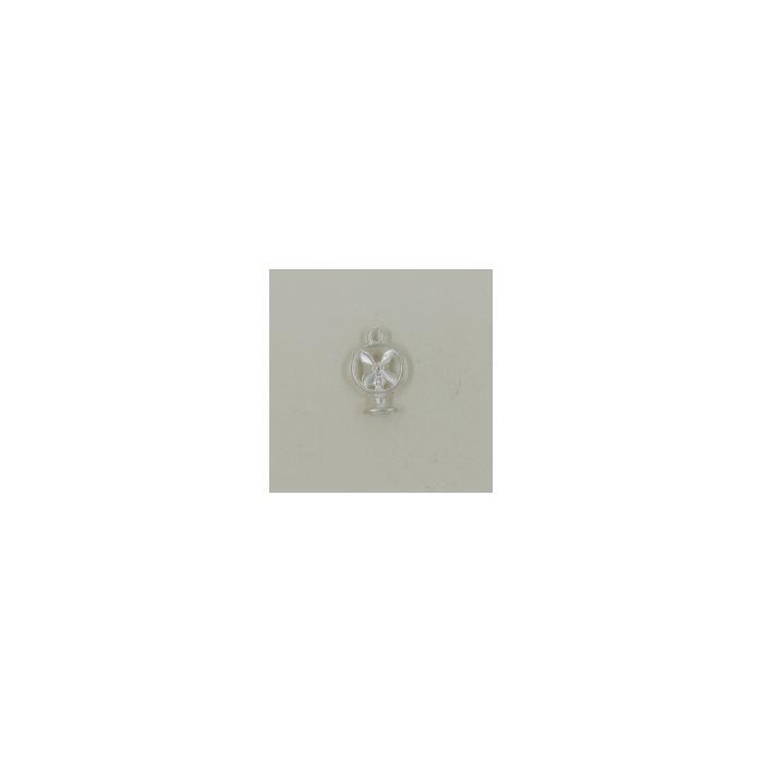 Breloque ventilateur 18mm argent x1