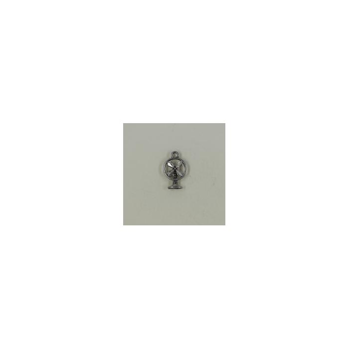 Breloque ventilateur 18mm argent vieilli x1